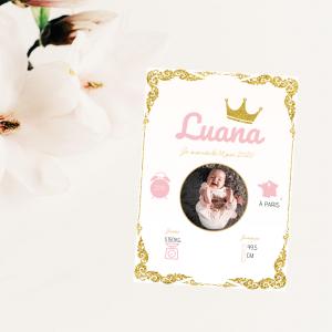 Affiche naissance princesse