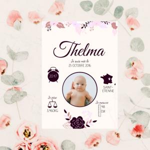 affiche personnalisée fleurs