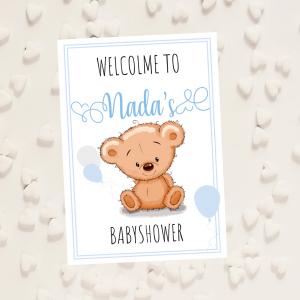 affiche bienvenue babyshower