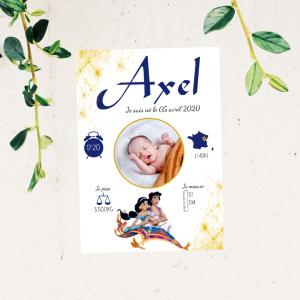affiche naissance aladdin